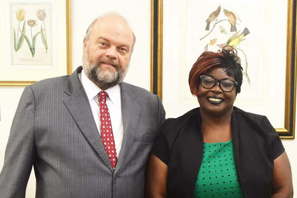 Ambassador Holloway with Shaundell Shipley